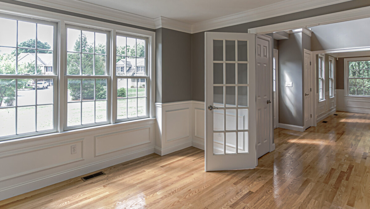 Vacant Home Office Space in a 2-story colonial style home in Newton Centre, MA.